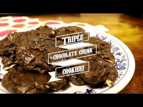 How to Make Triple Chocolate Chunk Cookies