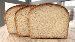 Белый хлеб в духовке Простой рецепт домашнего хлеба Как приготовить молочный хлеб для тостов