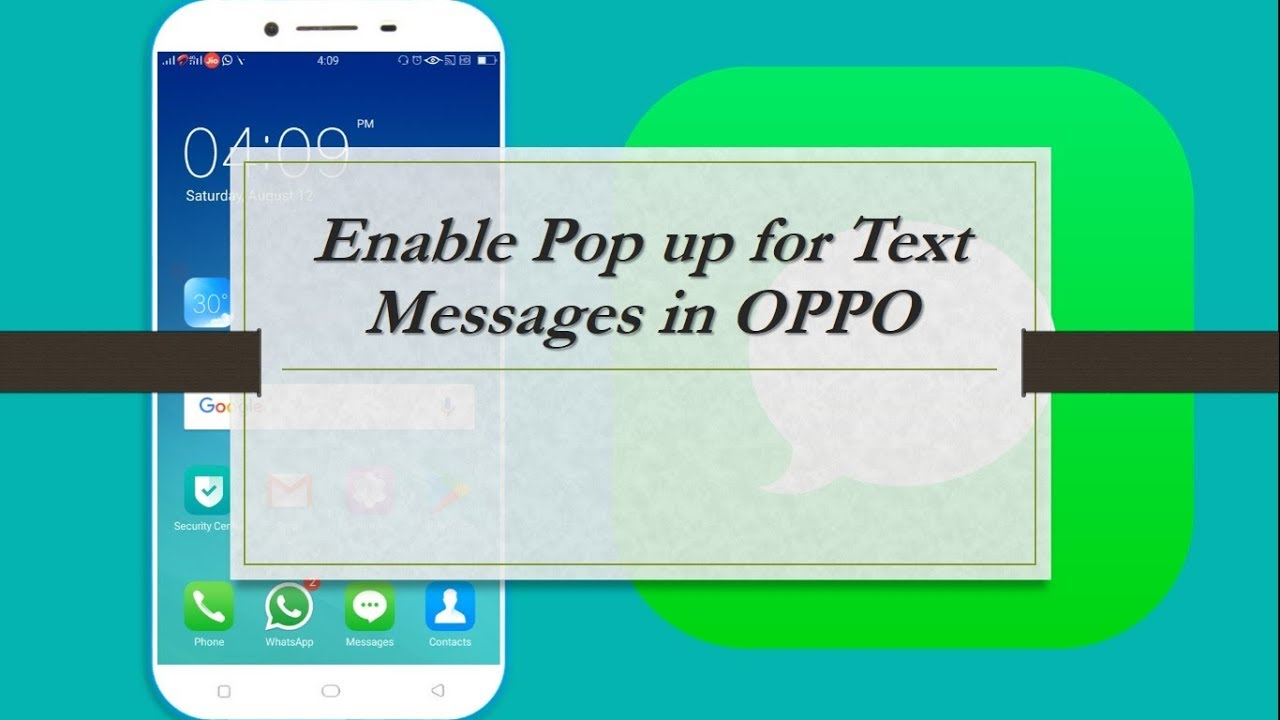 how to enable pop up for text messages in oppo