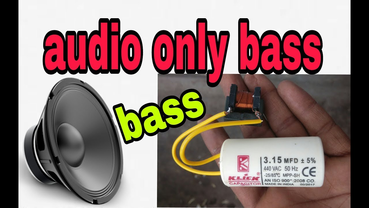 how to increase bass on subwoofer using capacitor and choke coil speaker louder and high bass korba  [ 1280 x 720 Pixel ]
