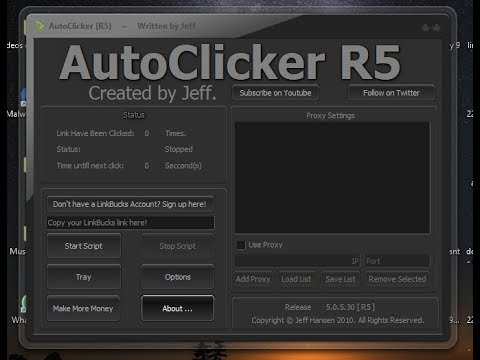 auto clicker r5 pour linkbucks