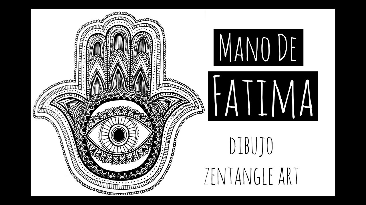 Mano de Fatima Zentangle Art YouTube