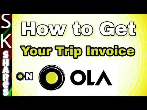 How To Get Your OLA Trip Invoice Using OLA App