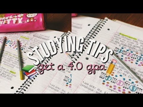 STUDYING AND NOTE TAKING TIPS | HOW TO GET A 4.0 GPA