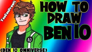How To Draw Ben Tennyson from Ben 10 Omniverse ✎ YouCanDrawIt ツ 1080p HD