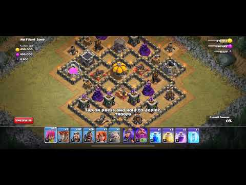 """Clash Of Clans How To 3 Star """"NO FLIGHT ZONE"""" 2019 UPDATE At TH8 ,TH9, TH10, TH11, TH12"""