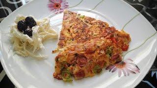 Bayat Ekmek Omleti- Pizzası- Bayat Ekmek Değerlendirmenin En Pratik ve Leziz Şekli