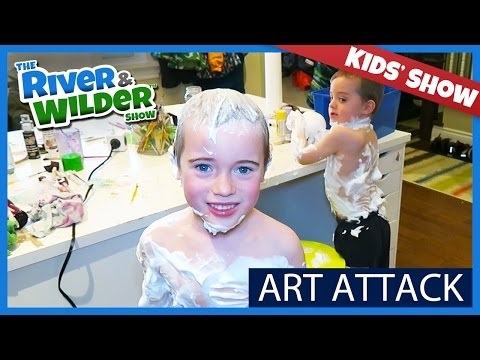 FAMILY ARTS AND CRAFT FUN | ART TIME ATTACK | TV FOR KIDS
