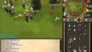 TRS  Runescape Fat k0 pk vid 6 New Wildy Dragon claws and AGS PKing