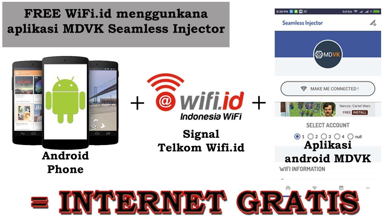Cara Auto Connect Internet Wifi ID Telkom Gratis Aktif Seumur Hidup Terbaru  2017
