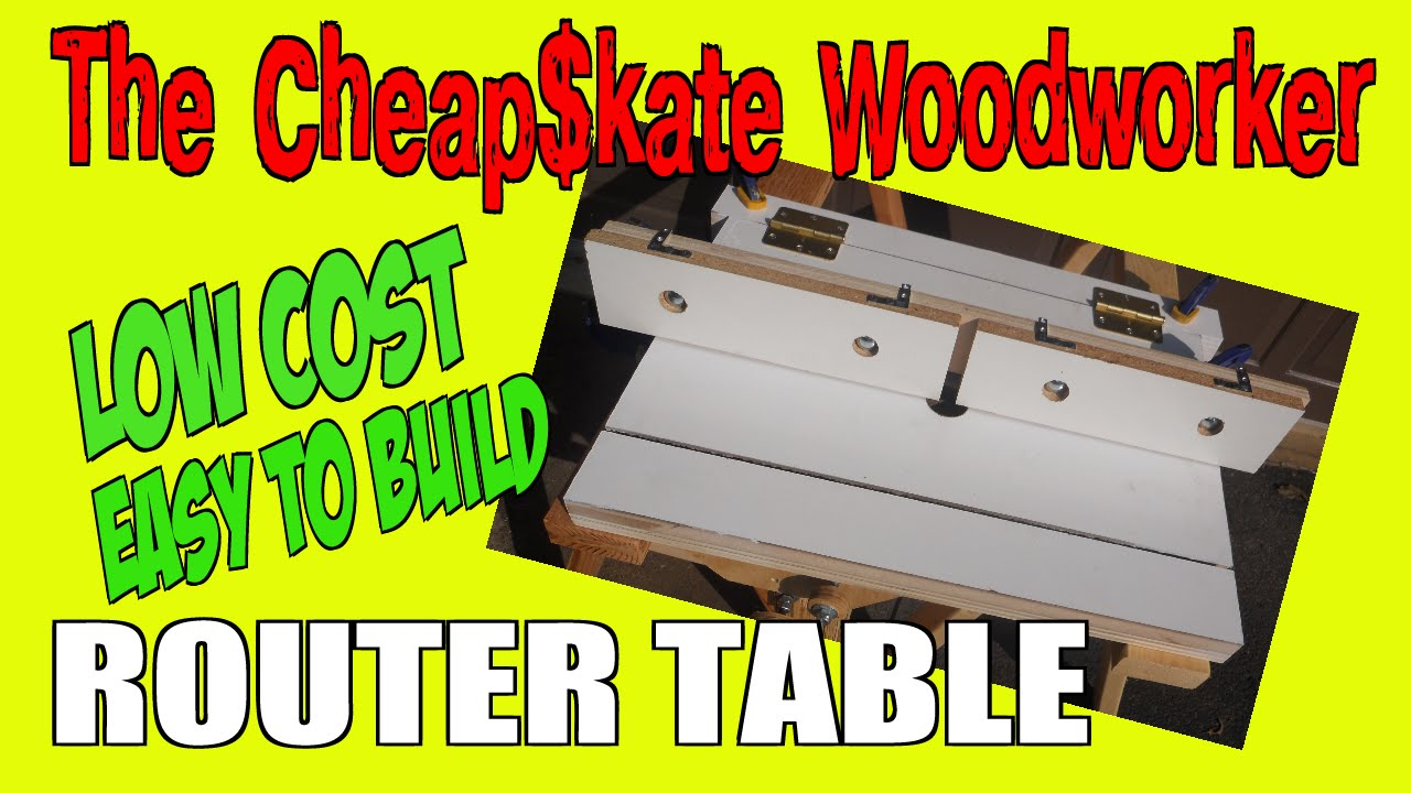 How to build a diy home made router table youtube for How to make a router table