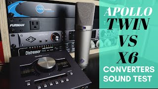 Apollo Twin Duo vs Apollo X6 (Converter sound test using U87ai)