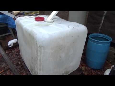 275 Gallon IBC Tote Rain Water Tank For The Off Grid Homestead
