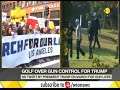 Donald Trump plays golf to avoid protesters