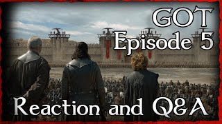 Game of Thrones Episode 5 Live Reaction with Shakespeare of Thrones