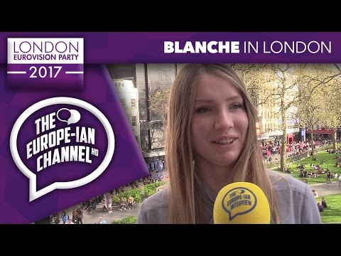 Blanche (Belgium 2017) - Interview - London Eurovision Party 2017 - #LDNEurovision