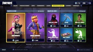 "FORTNITE October 23rd Skins ""GUITARISTE"" - ""BOSS BURGER"" shop!"