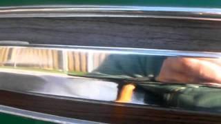 Restoring aluminium trim.