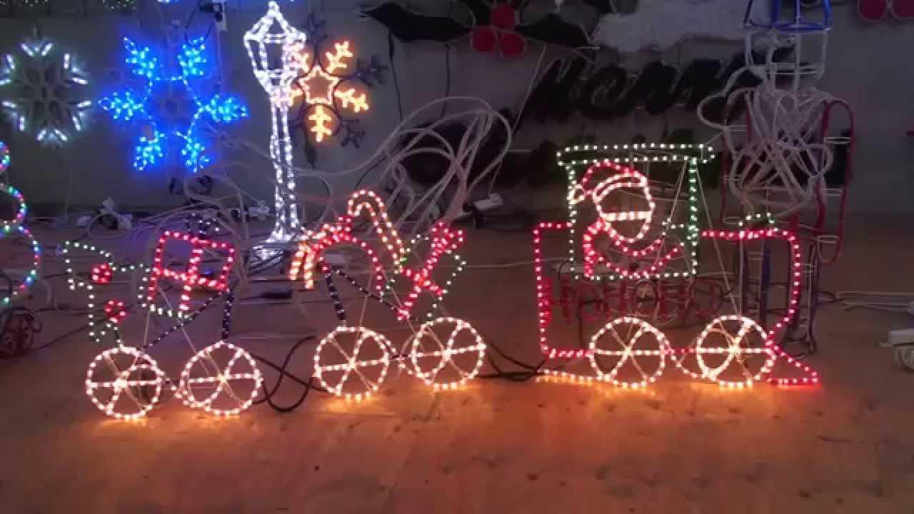 Christmas lighting show display santa train christmas rope light christmas lighting show display santa train christmas rope light animation motif aloadofball Gallery