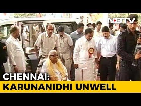 DMK Chief Karunanidhi Health Unwell; Tamil Nadu Ministers, Kamal Haasan Pay Visit