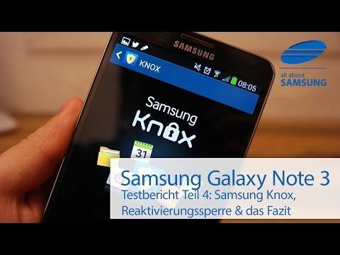 Samsung Galaxy Note 3 Testbericht Teil 4: Das Fazit und die Sicherheit