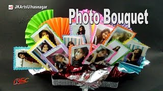 DIY Photo Bouquet Gift Idea |  How to make | JK Arts 959