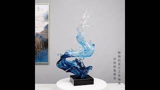 감성 소품 바다 유리 공예 물결 모형