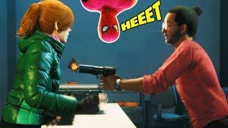 Человек паук Мэри Джей в ОПАСНОСТИ Прохождения игры как мультик Marvel s Spider Man 21