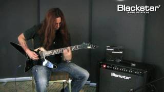 Gus G. demonstrates the new Blackstar HT-Blackfire