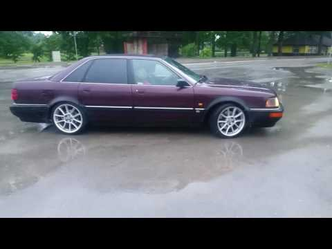 Audi v8 4.2 stright pipes sound and drift