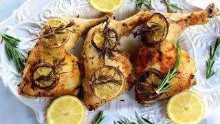 {dinner Recipe} Rosemary Lemon Chicken Recipe By Cookingforbimbos.com