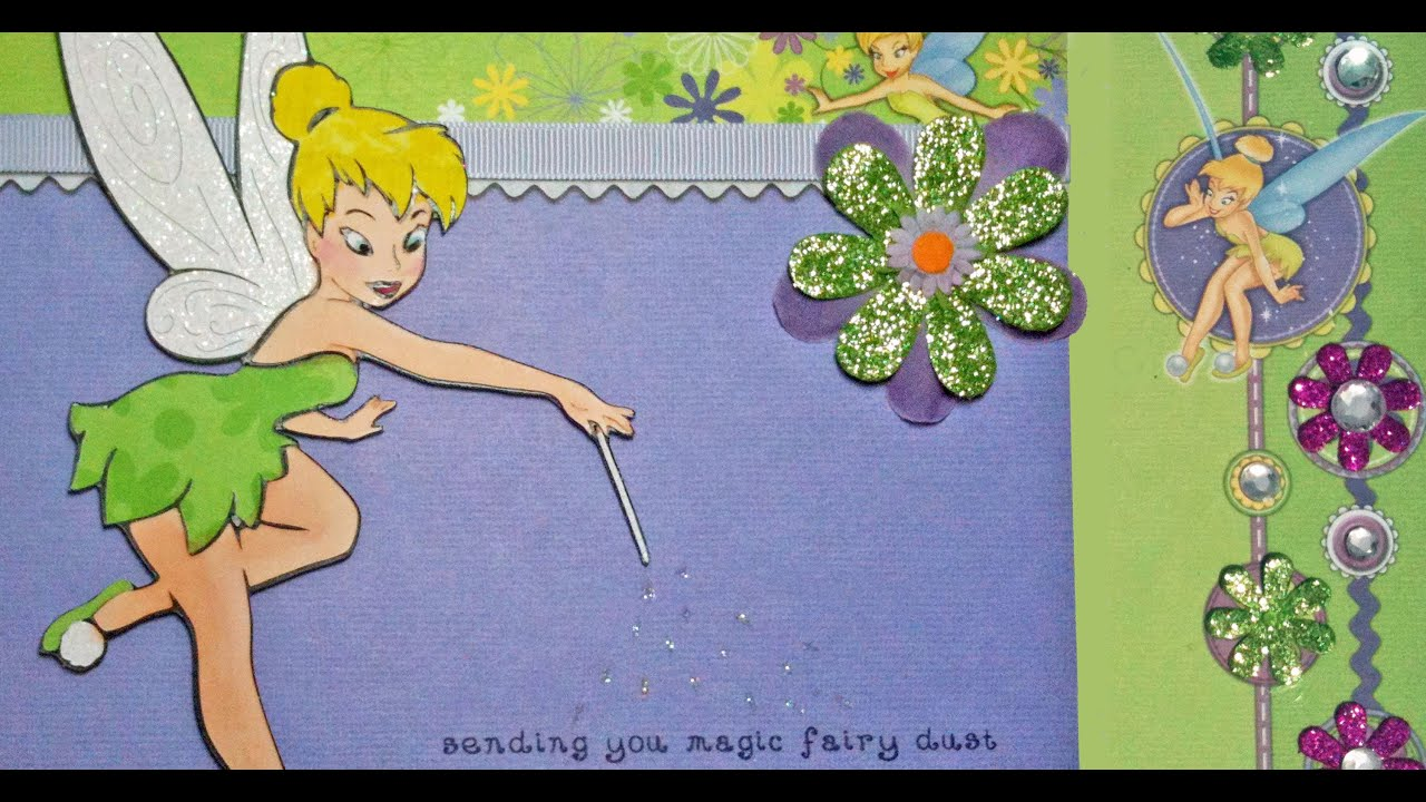Cricut disney tinkerbell fairy card youtube stopboris Choice Image