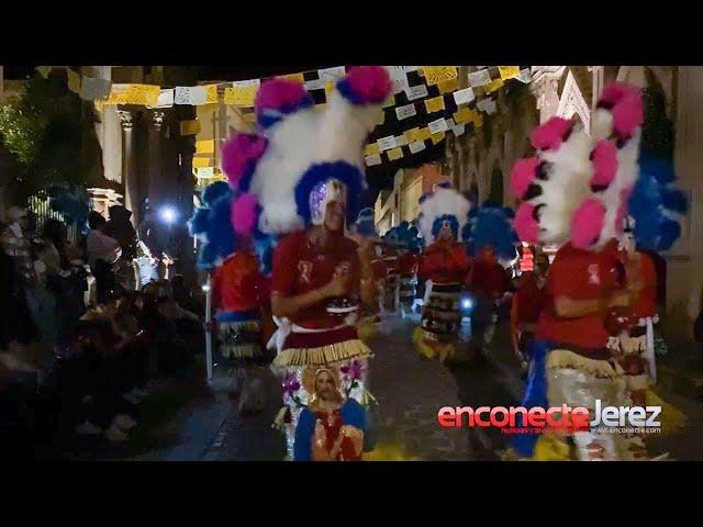 Danza Los Colorados de Jerez en el Novenario a la Virgen de la Soledad