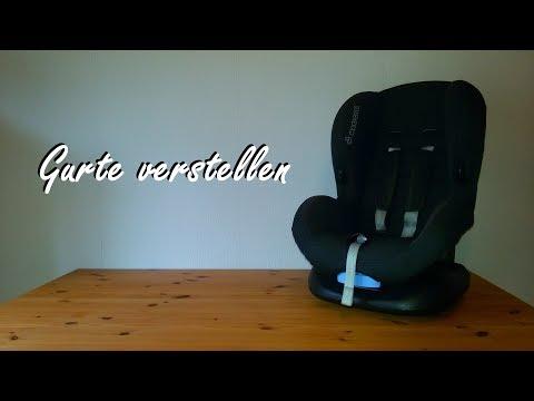 Gurte Verstellen Maxi Cosi Kindersitz Priori Sps Youtube