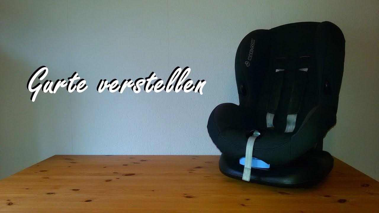 Maxi Cosi Priori Autostoel Riemen Verstellen.Gurte Verstellen Maxi Cosi Kindersitz Priori Sps