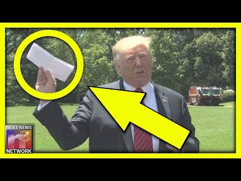 Media Accuses Trump Of Holding Blank Paper After Mexico Agreement, Then TRUTH Is Revealed
