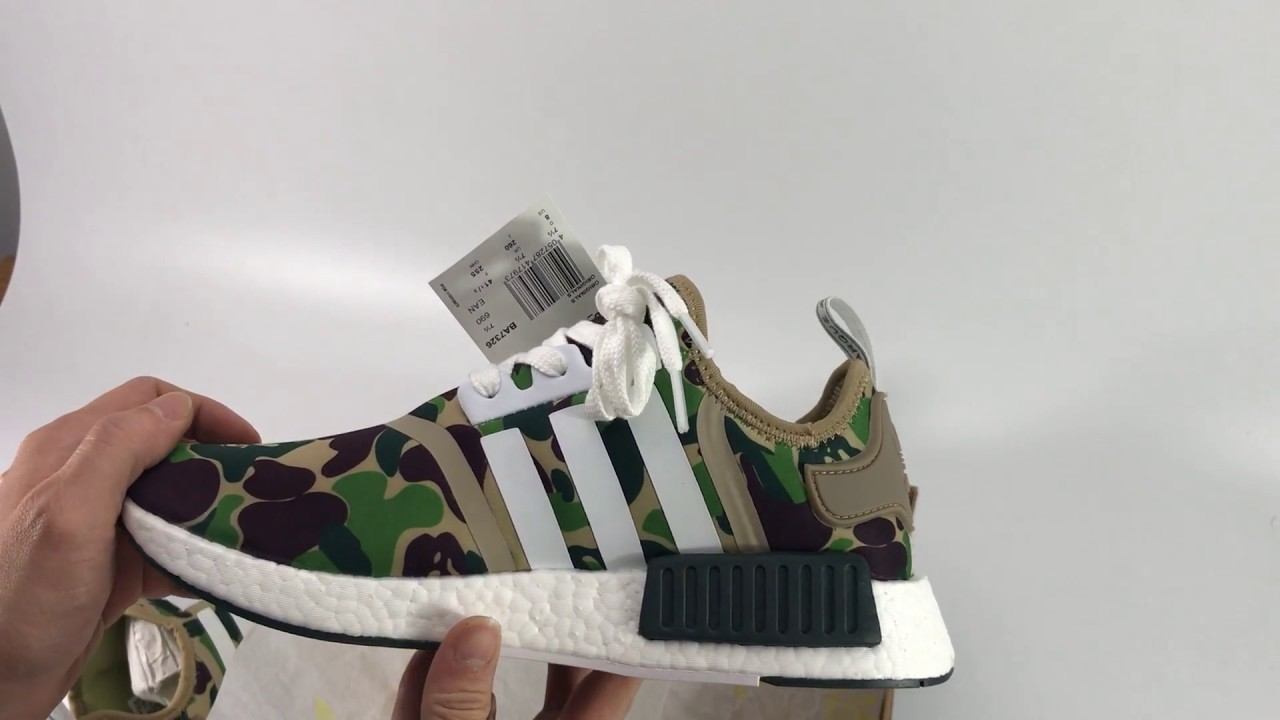 NEW 2017 UA BAPE x Adidas NMD R1 Camo UNBOXING REVIEWS - YouTube 42530bace