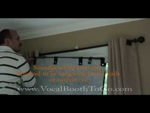 SoundProofing Curtain - YouTube