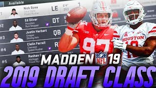 Complete NFL 2019 Draft Class in Madden 19