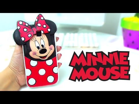 DIY MINNIE MOUSE PHONE CASE - HOW TO MAKE...