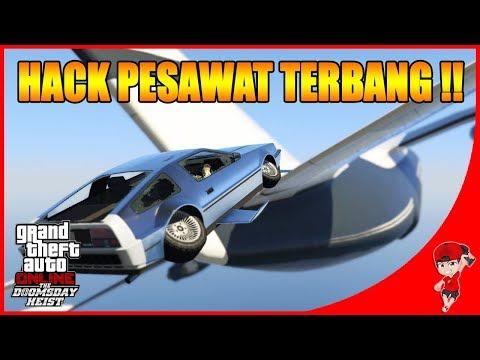 GTA V ONLINE DOOMSDAY (3) - SERU !! HACK PESAWAT PAKAI MOBIL TERBANG !!