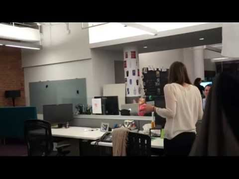 Unsubscribe ... - Air Horn + Office Chair Prank - Best 2014 April Fools Prank - YouTube