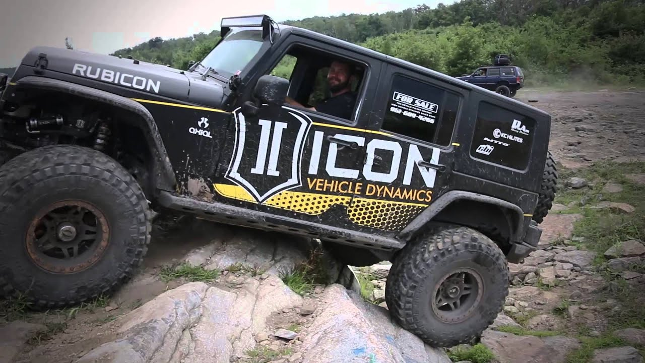 icon vehicle dynamics jeep jk with coilover conversion rock crawling