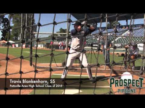 Travis Blankenhorn Prospect Video, SS, Pottsville Area High School Class of 2015