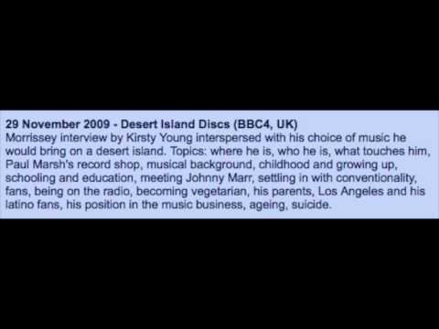 MORRISSEY - November 29, 2009 - Desert Island Discs (BBC4, UK)