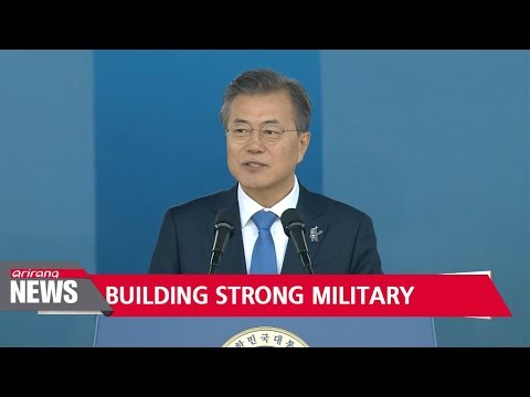 S. Korea should build strong military power to counter N. Korean threat: Pres. Moon