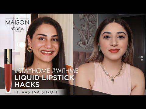 Lockdown Binge | Simmy Goraya & Aashna Shroff | #StayHome & Learn Lipstick Hacks #WithMe