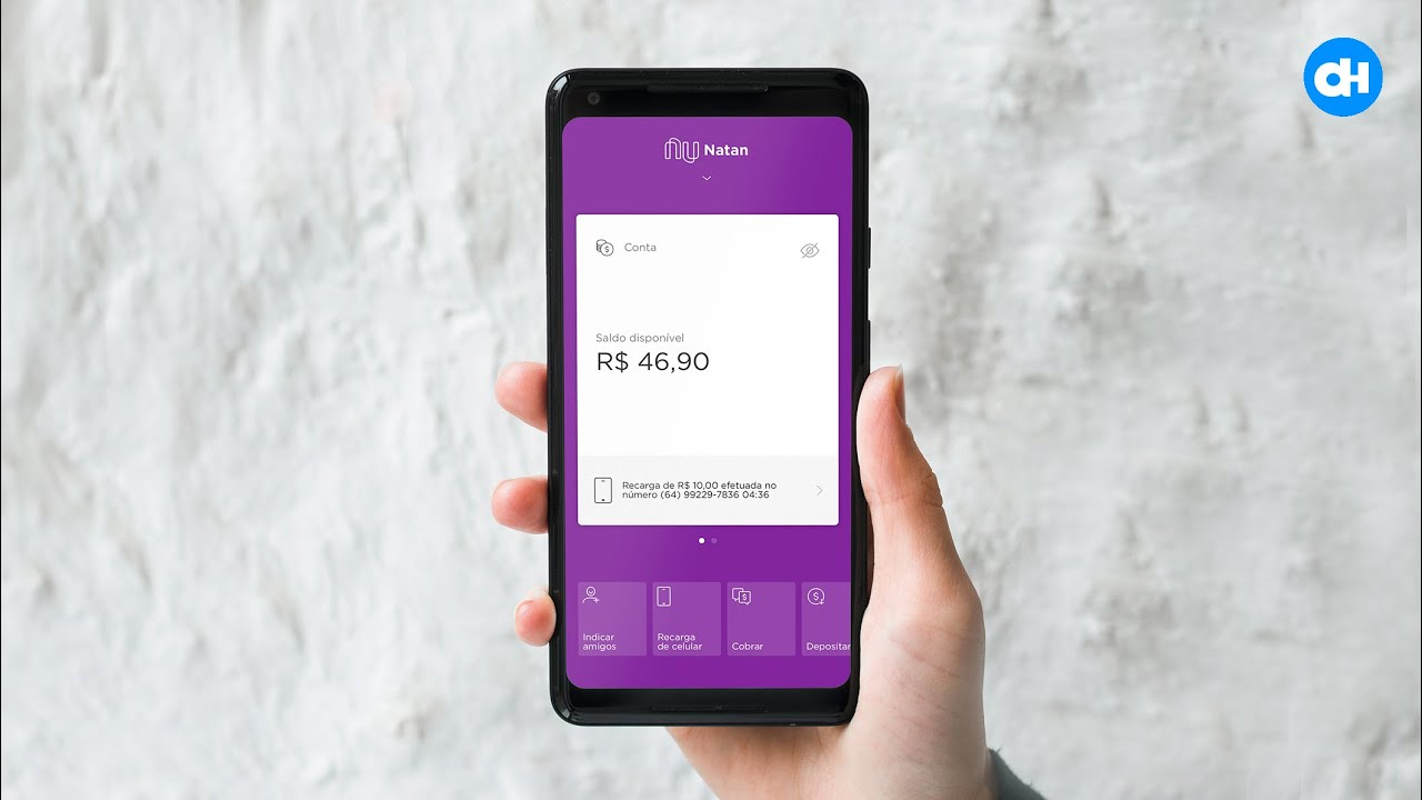 Como recarregar o celular usando o saldo em conta pelo app Nubank