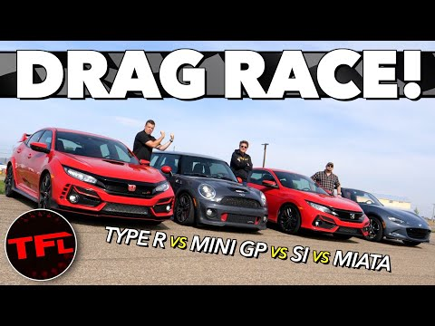 DRAG RACE: Which Of These Four Performance Cars Can Beat The 2020 Honda Civic Type R?