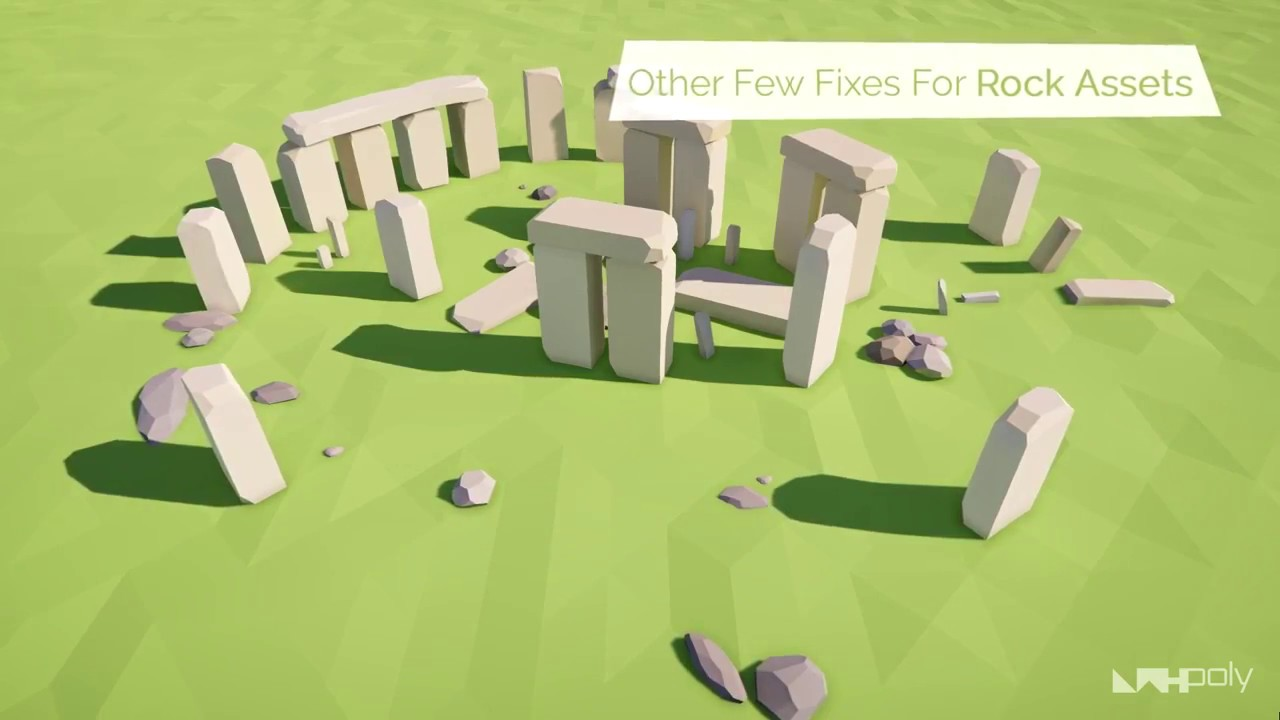 Unity Asset Store Pack - Low Poly Rocks Pack (Download link in description)